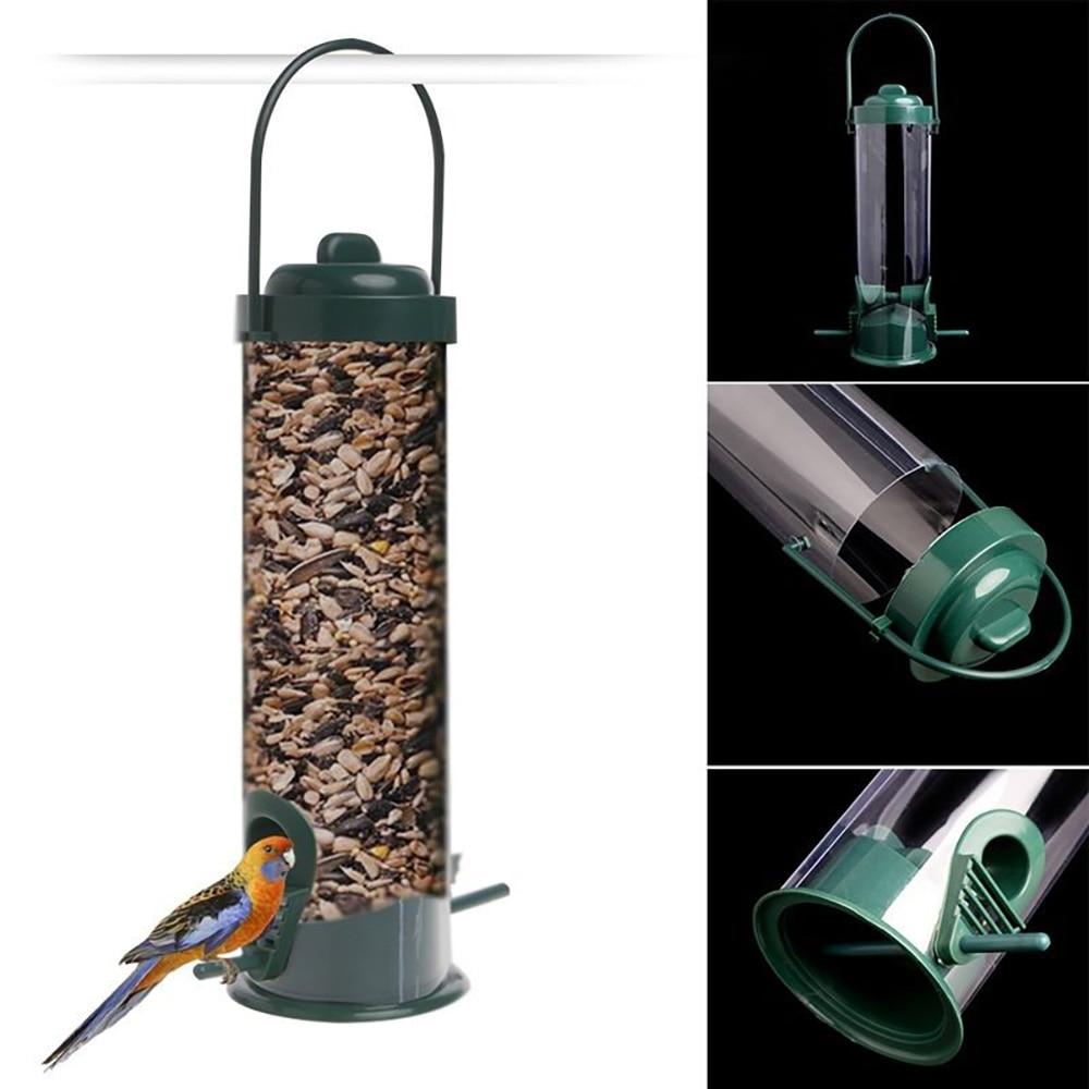 Karmniki dla ptaków paszy stacji podajnik wiszący na świeżym powietrzu z tworzywa sztucznego zwierzęta domowe są karmnik dla ptaków drzewo ogród dekoracji