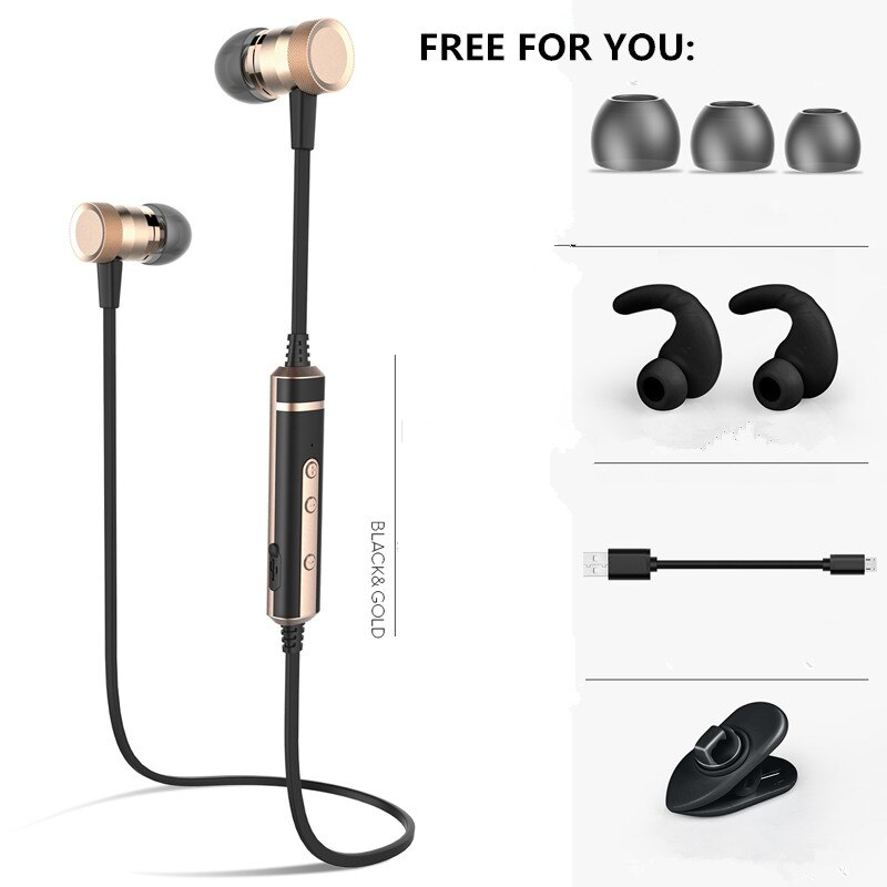 Auriculares Bluetooth de marca H6, banda para el cuello inalámbrica, Auriculares deportivos para correr a prueba de sudor con micrófono para iphone xiaomi samsung MP3/4