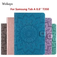 wekays for galaxy tab a 8 0 t350 sun flower leather fundas case for samsung galaxy tab a 8 0 t355 t350 t351 tablet cover cases