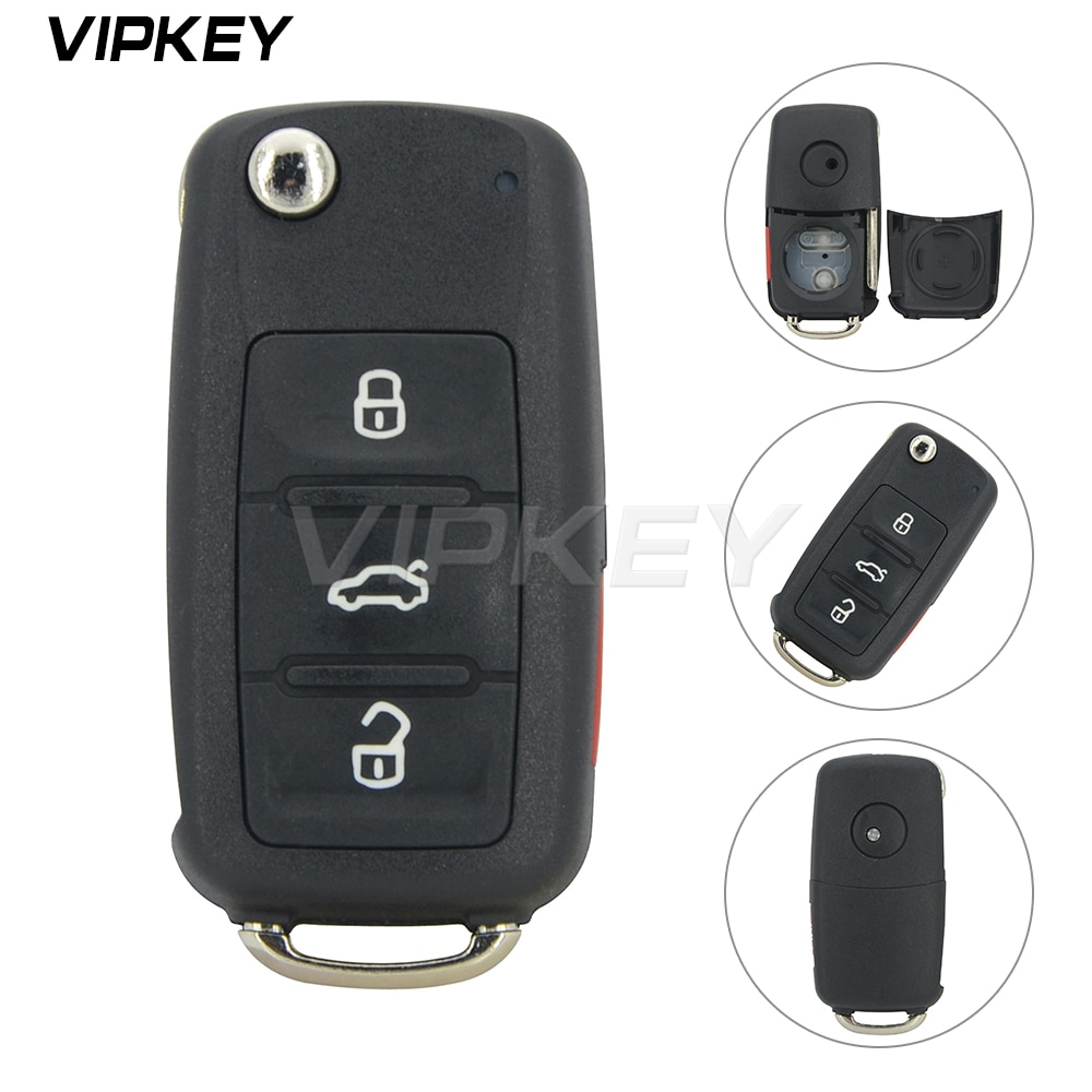 Remotekey 5K0 837 202 AE coche clave shell para VW Escarabajo Volkswagen Golf Jetta Passat funda de llave de control remoto para coche 2014 de 2015 a 2016