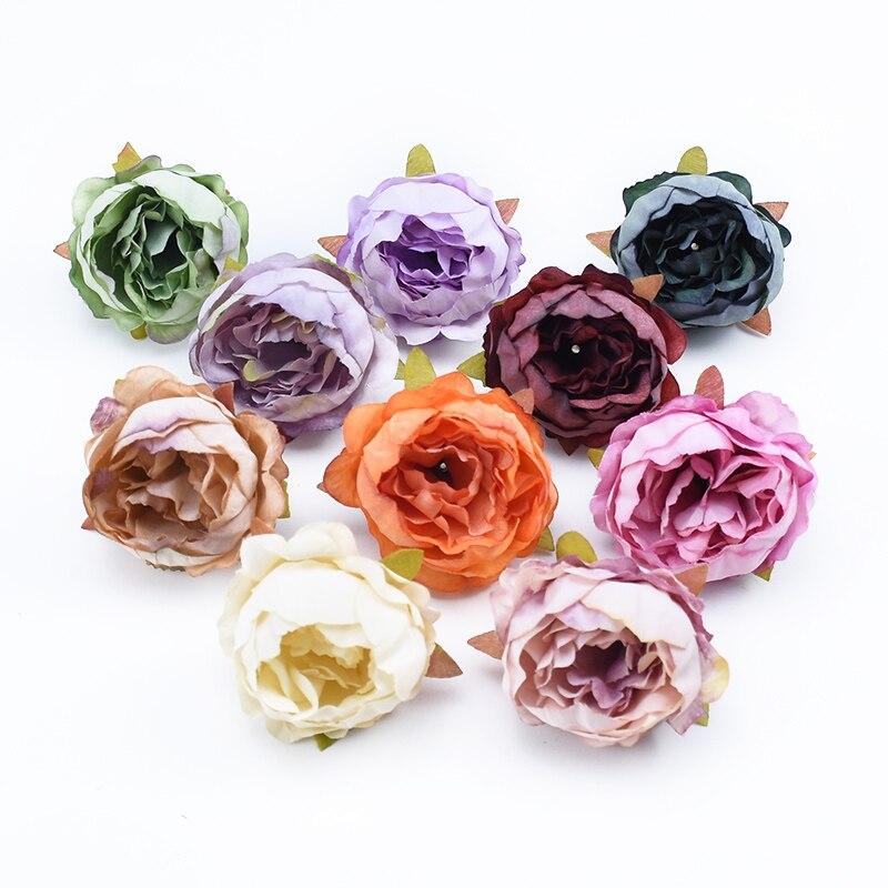 5 stück Pfingstrose kopf hochzeit braut zubehör abstand gefälschte staubblättern Blume wohnkultur diy geschenke box künstliche blumen billig