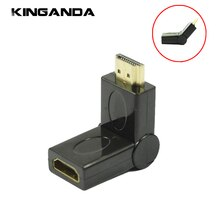 180/Ângulo de 90 Graus de Rotação HDMI Macho para HDMI fêmea Cabo Adaptador M/F Conector 1080 P HDTV Converte HDMI Extender adaptador