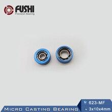 623-MF mikro döküm rulman 3x10x4mm (1 adet) kullanımı iplik makarası su çarkı rulmanlar 623 davul rulman