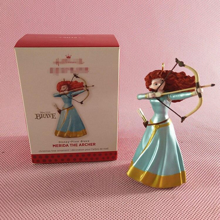 Hallmark caja de juguete Original Kit de modelismo Merida el arquero con arco belleza princesa PVC figura de acción coleccionable modelo de juguete Suelto