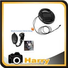 2 in1 Wrist Strap / Hand Grip Strap + Lens cap cover for 5D2 5D3 5D4 6D 7D2 7D 6D2 D750 D800 D810 D610 D600 D500 D850 D7500 D90