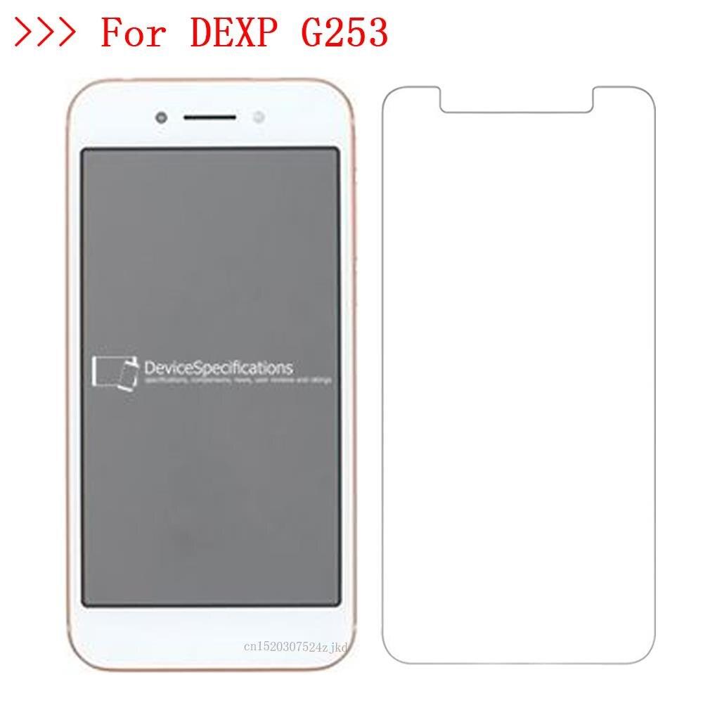 Para DEXP Ixion M750 ML350 MS650 ES950 G155 Z255 G253 transparente protección de pantalla del teléfono película protector de pantalla de cristal