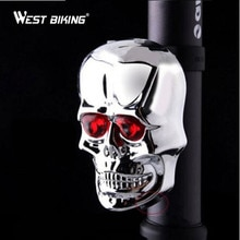 West Biking  Bicycle Skull Rear Tail Light Waterproof Cycling Flash Lamp 7 Modes LED Laser Safety Warning Lamp Cycling Light