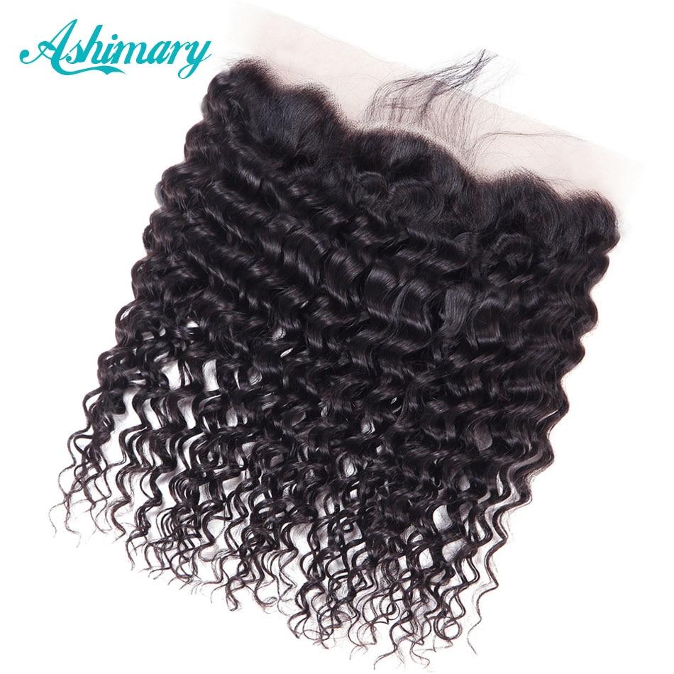 Ashimary-شعر مستعار برازيلي مموج ، دانتيل أمامي ، شعر بشري ريمي ، منتف مسبقًا ، مع شعر الطفل ، من الأذن إلى الأذن