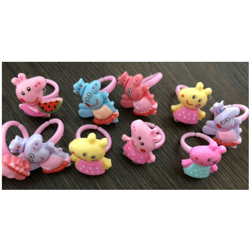 Huilong/новые детские ювелирные изделия оптом из смолы с мультяшным рисунком, пластиковые ювелирные изделия с героями мультфильмов, маленький ...