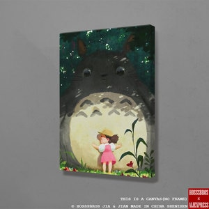 My Neighbor Totoro Hayao Miyazaki anime Wall Art Canvas For Living Room Home Bedroom Study Dorm room Decor Prints