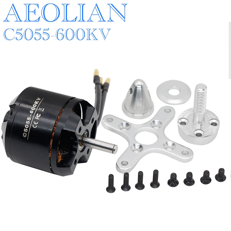 Motor sin escobillas Aeolian C5055 kv600 Outrunner para Avión RC de ala fija