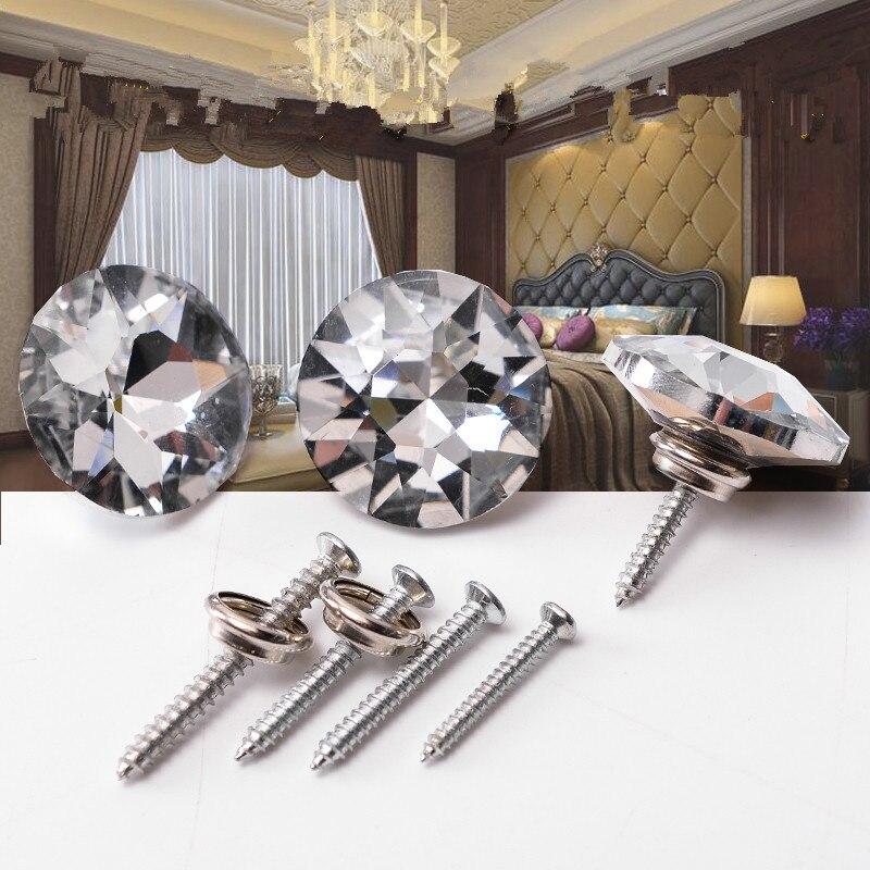 500 Uds Diamante pared sofá silla decoración cristal Botones de cabecera de sofá de tapicería auto-tornillo de rosca uñas sofá silla taburetes clavo