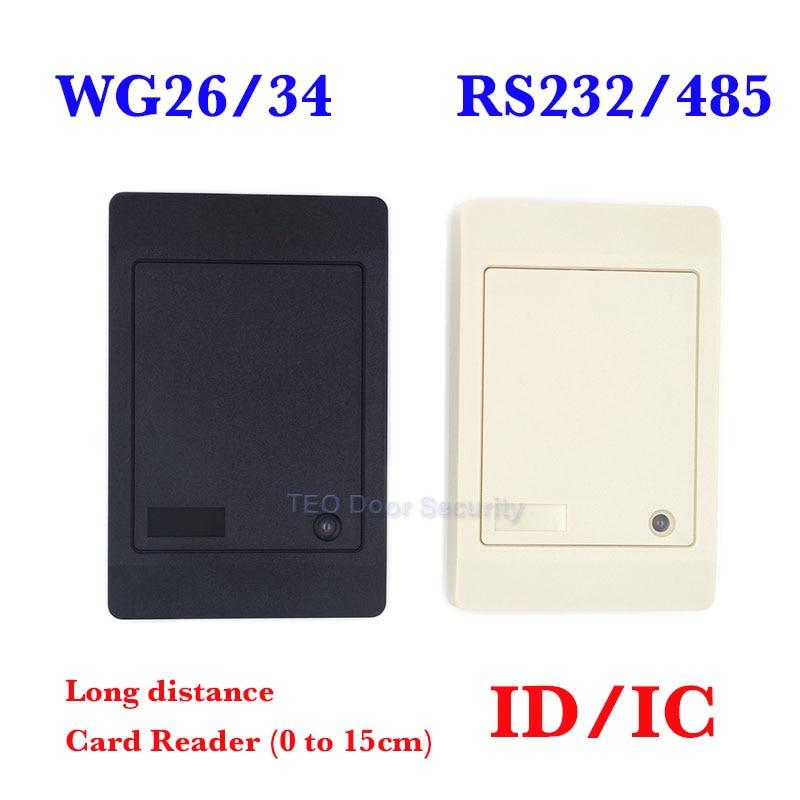 RFID-кардридер Proxi без клавиатуры WG26/34, RFID-считыватель доступа RF EM, кардридер доступа для дверей, индивидуальный RS232/485