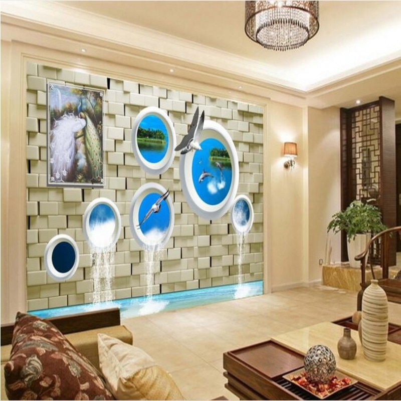Murales personalizados de gran escala wellyu, papel tapiz para habitación de amor a largo plazo con agua 3D, papel tapiz no tejido, papel de pared