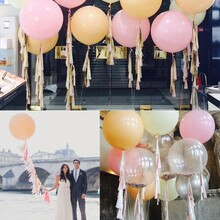 5 stks/partij 36 Inch valentijnsdag Grote Ballonnen Helium Inflat Latex Ballonnen Verjaardag Bruiloft Decor Ronde Big Giant Ballon