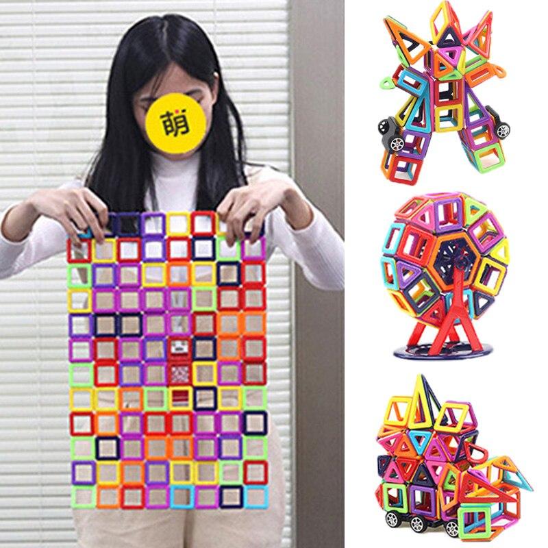 Building Plastic Magnetic Blocks Educational Toys For Kids Gift & Mini Magnetic Designer Construction Set Model