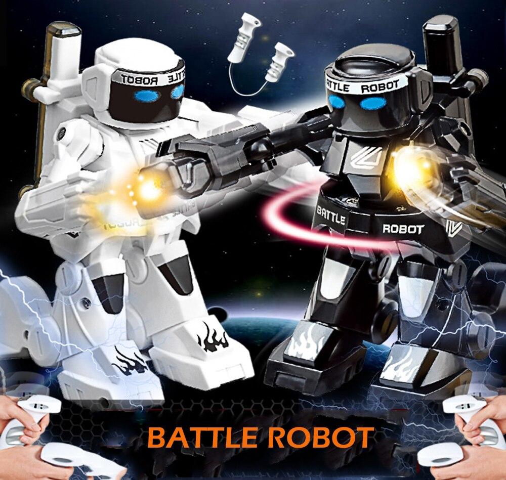 Rc batalha robô de controle remoto luta robô brinquedos de boxe para crianças