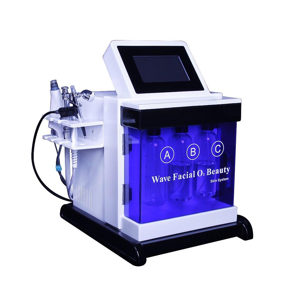 5in 1 bio martillo frío de agua hidráulica hydra dermoabrasión de la piel facial poro de la máquina de limpieza de