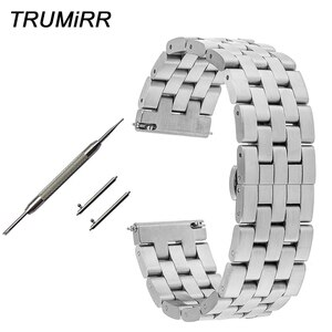 20mm 22mm Quick Release Watchband for IWC Watch Band Stainless Steel Strap Butterfly Buckle Bracelet Wrist Belt Black Silver