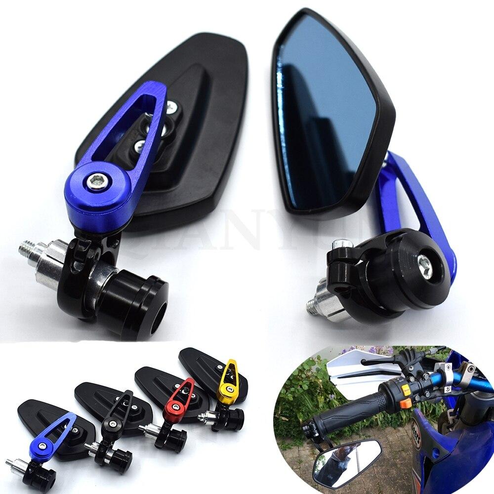 """Universal de la motocicleta 7/8 """"22mm manillar extremo espejo retrovisor para Suzuki GSXR GSX-R 600, 750 de 1000 K1 K2 K3 K4 K5 K6 K7 K8 K9"""
