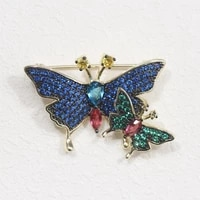 donia jewelry fashion cute simple micro set aaa color zircon two color butterfly brooch insect pin ladies coat brooch