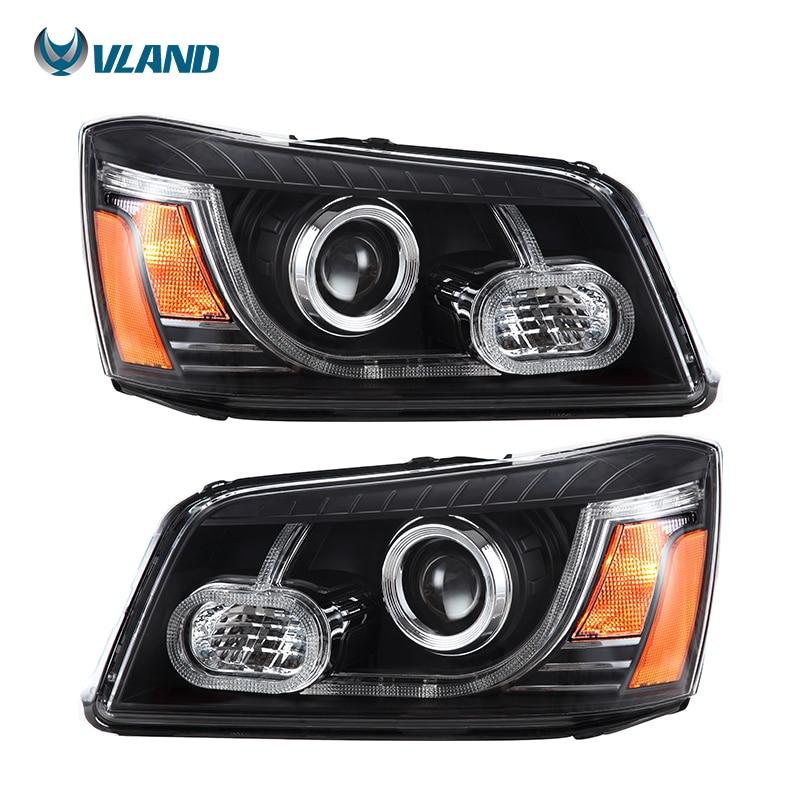 Faros delanteros de diseño para coche Vland para faro Led para Highlander 2001-2007, accesorios de luz para coche tipo US