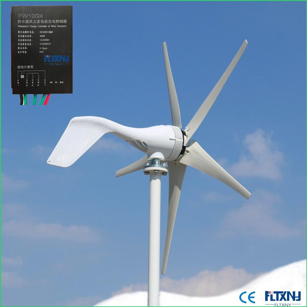 Bon générateur dénergie   Éolienne de performance, éolienne 12v 24v 400w avec ou sans contrôleur