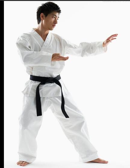Kimono kárate ropa de manga larga Karate japonés niños 120-185cm blanco