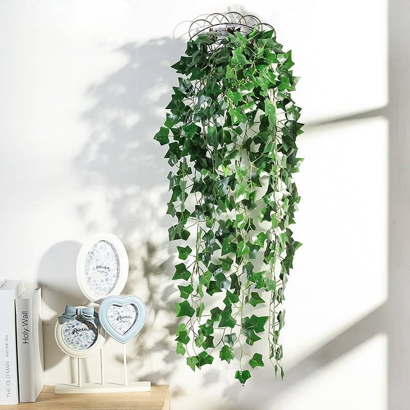 Luyue, nuevas plantas artificiales, uva, hiedra, hoja verde, planta de simulación, pared de vid flor, colgante, hojas de ratán, decoración para interiores y jardines