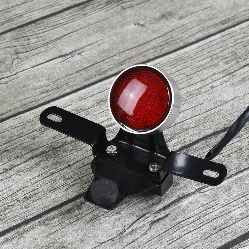 Lámpara de la motocicleta de la vendimia de la aleación de aluminio del CNC LED luz de freno de la luz trasera del freno del tipo pequeño para la motocicleta con