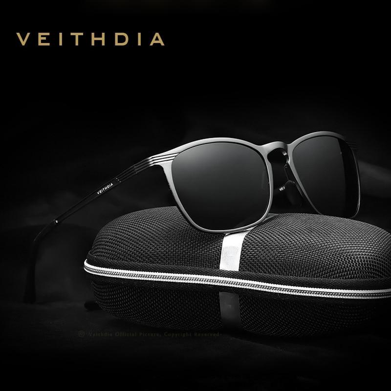 VEITHDIA-lunettes de soleil à verres polarisés   Lunettes de soleil Vintage masculine de styliste 6630, gafas oculos de sol masculin