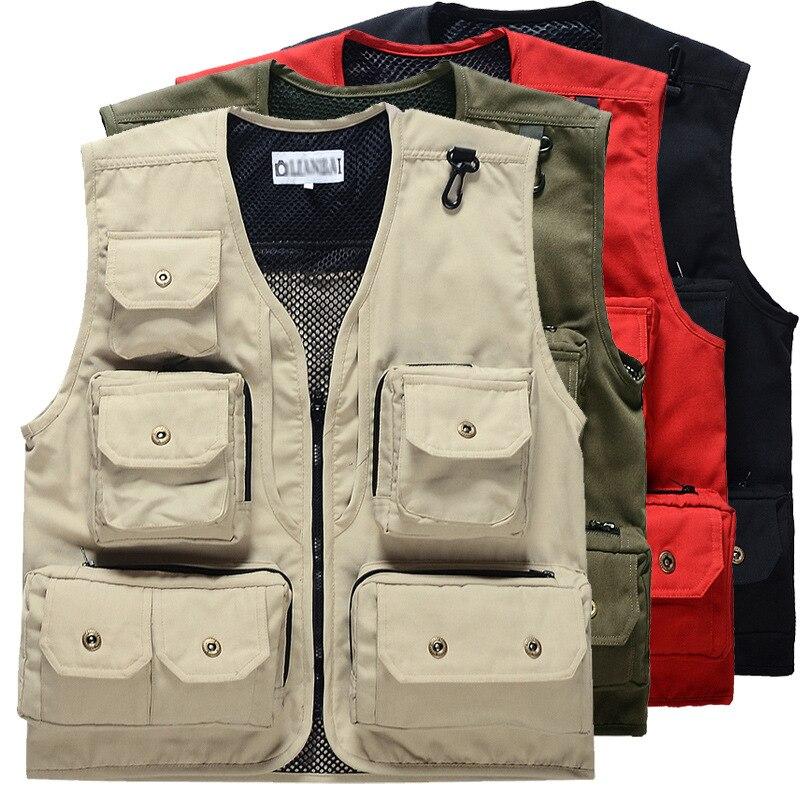 Fashion Fisherman Vest Director Photographers Soldier Vest Tactical Military Clothes Casual Vest Breathable Pocket Style Vest