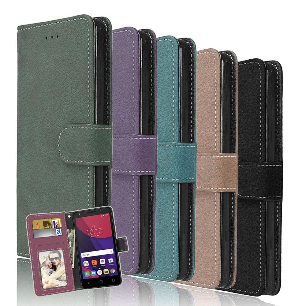 Bolsas de teléfono para Alcatel One Touch pixi 4 6,0 pulgadas 8050D Flip Cover PU Funda de cuero para Alcatel pixi 4 (6) funda Lisa Fundas