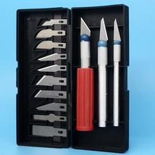13pcs/ Set Scalpel Blade Knife Wood Paper Cutter Craft Pen Engraving Cutting Supplies Diy Stationery Utility Knife