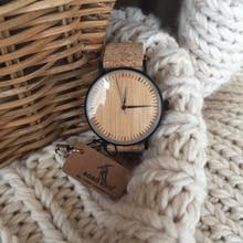 BOBO VOGEL LE19 Bambus Zifferblatt Mode Holz Uhren Mujer Quarz Uhr Leder Band Edelstahl Uhr für Damen