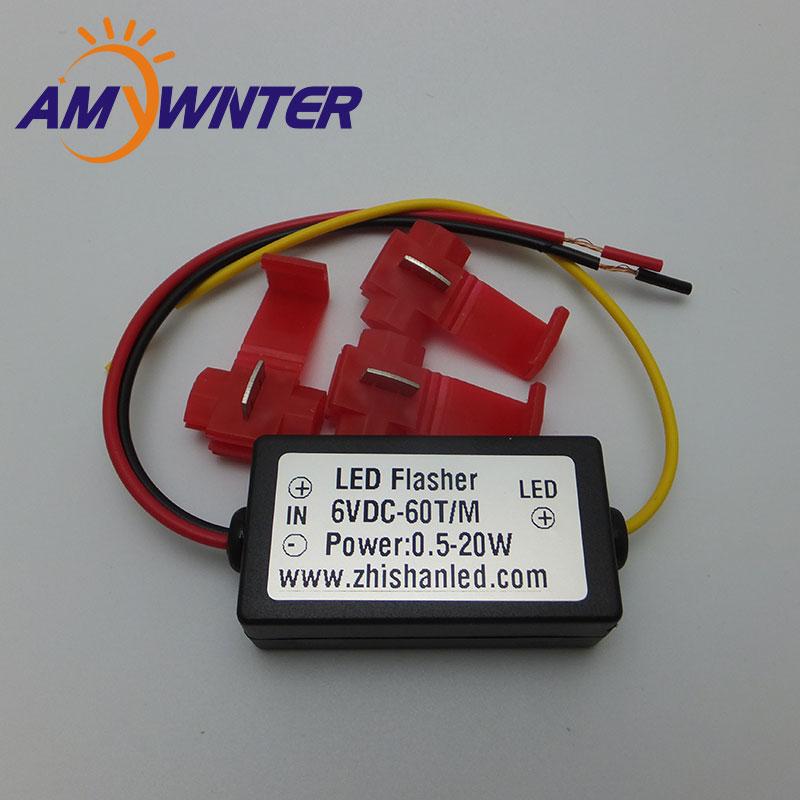 AMYWNTER 6V Flasher контроллер автомобильная светодиодная вспышка стробоскоп для сигнальных огней поворота предупреждающий свет