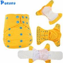 Couche-culotte lavable en tissu pour bébé   AIO pochettes de couverture pour bébé, couches en tissu simples tout en un, couches changeantes en tissu réutilisables