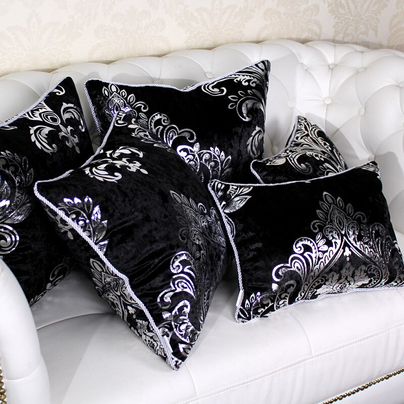 Funda de cojín decorativa de terciopelo color bronce de lujo con envío directo, funda de almohada decorativa de terciopelo
