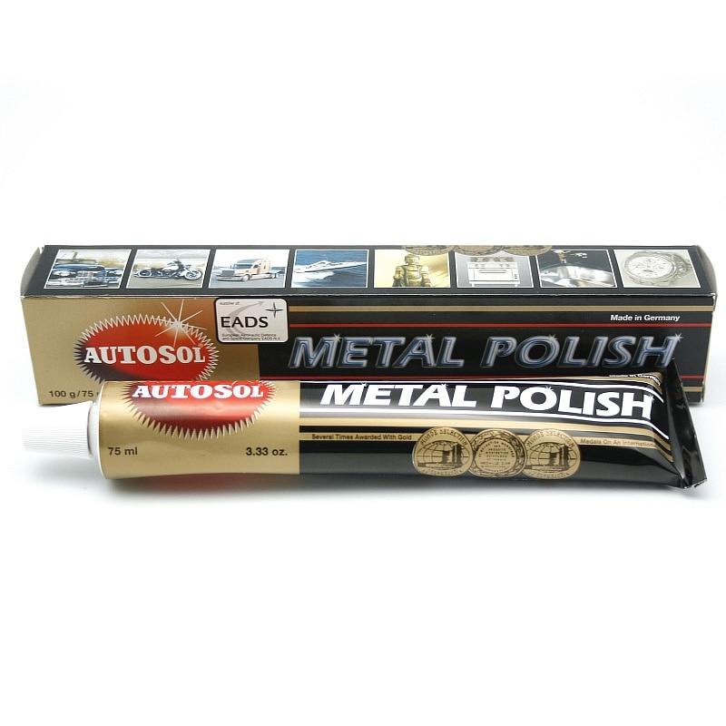 1db 75ml 100g Autosol fényezőviasz tükrökhöz és fémhez, rozsdamentes acél órapolírozó paszta