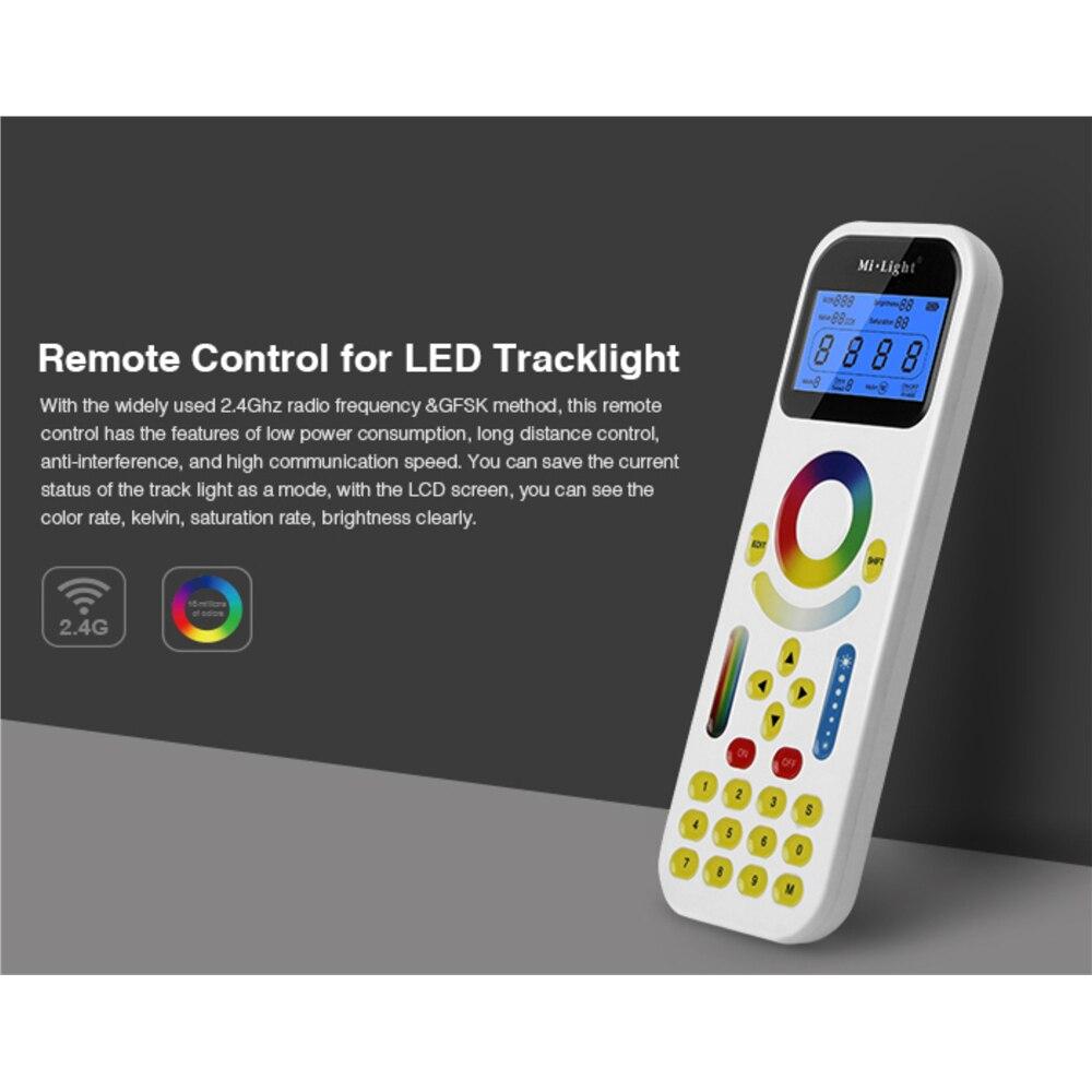 Control remoto de FUT090 2,4 GHz con pantalla LCD Max 99 zonas de Control para Mi luz LED Tracklight o LS1 4 en 1 controlador inteligente