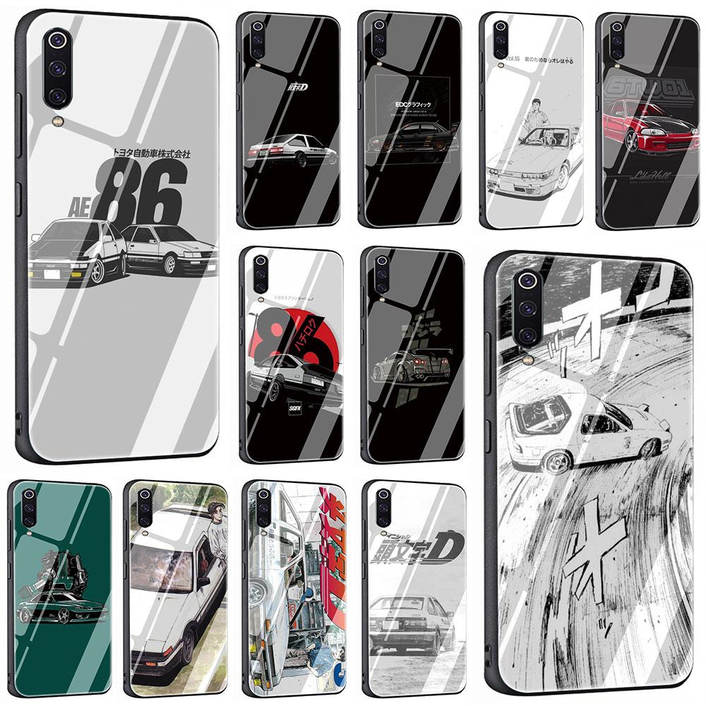 INITIAL D AE86 Tempered Glass Phone Cover Case For Xiaomi Mi 8 9 Redmi 4X 6A Note 5 6 7 Pro Pocophone F1