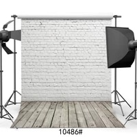 brick wall retro wood floor photography backdrop for photo booth vinyl background photo studio photocall for baby toy goods