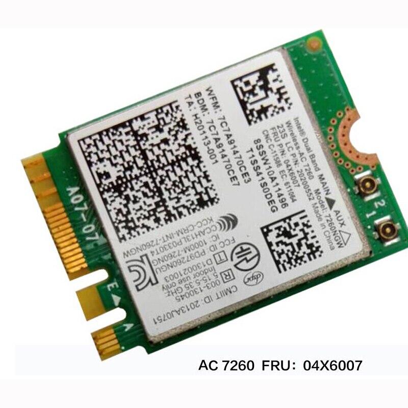 Двухдиапазонная Беспроводная Intel-AC 7260 WiFi + BT 4,0 комбинированная карта для Lenovo Thinkpad Y40 Y50 X240 T440 Series, FRU 04X6007 20200552