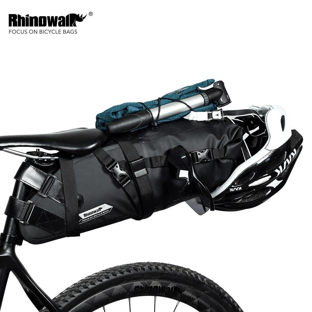 RHINOWALK 2017 Mais Novo 10L 100% À Prova D Água Saco Da Bicicleta Da Bicicleta Saddle Bag Ciclismo Saco Acessórios Da Bicicleta Mountain Bike Banco Traseiro Traseiro