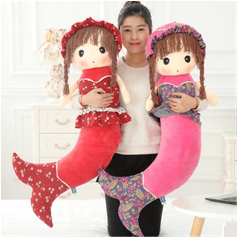 Fancytrader juguetes de sirena rellenos para niñas los hermosos peces de peluche muñecas regalos de cumpleaños de Navidad
