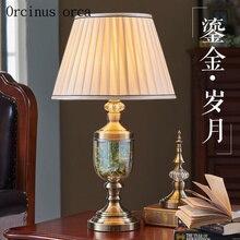 Nordique moderne simplifié verre lampe de bureau salle à manger salle à manger vase parure style européen créatif lampe de chevet