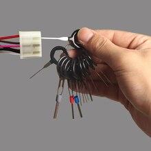 Kit estrattore Pin connettore a crimpare cablaggio elettrico auto strumento di rimozione terminale 11PCS