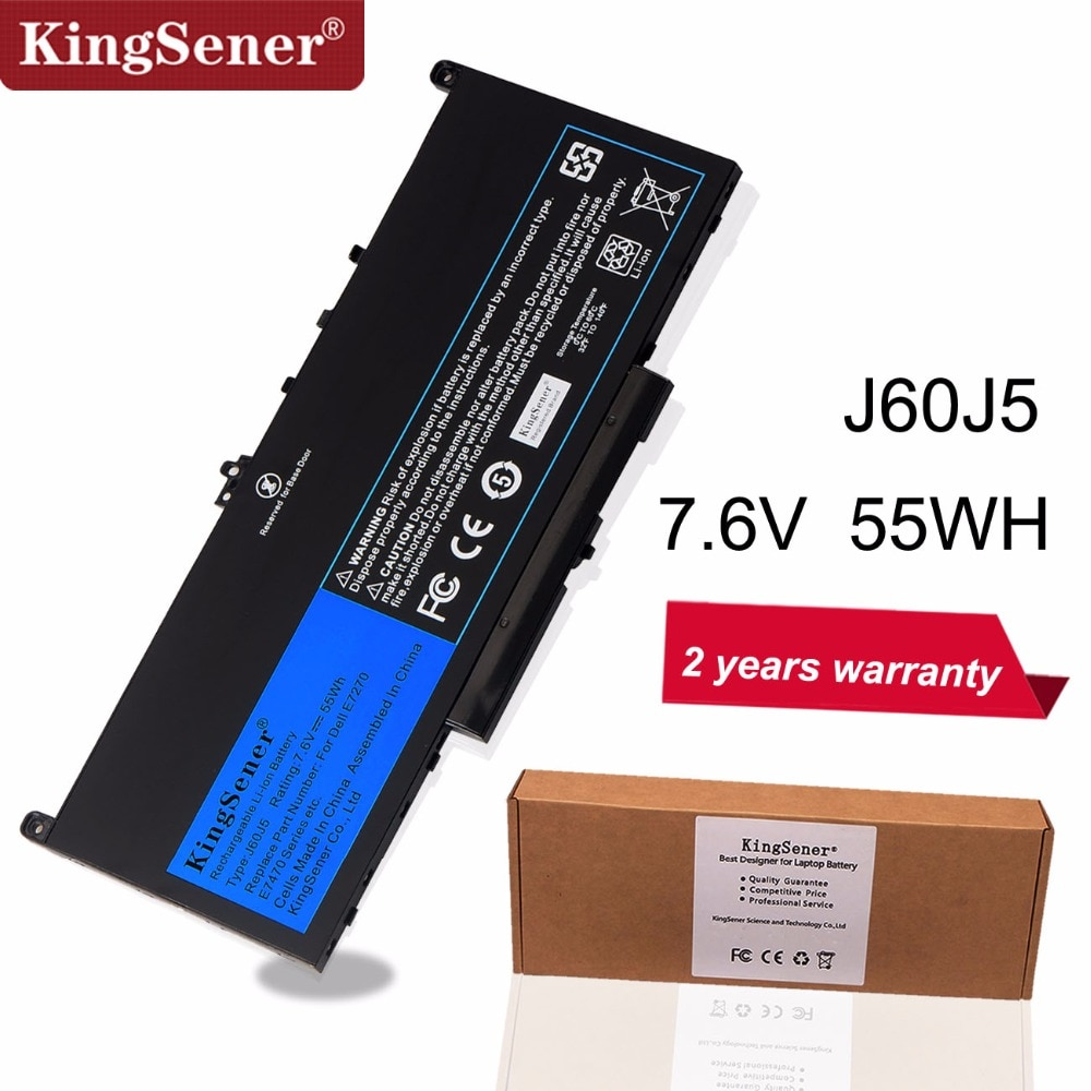 KingSener Новый J60J5 Сменный аккумулятор для ноутбука Dell Latitude E7270 E7470 J60J5 R1V85 MC34Y 242WD 7,6 V 55Wh