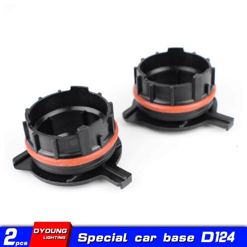 Dyoung 2pcs D124 h7 base Car accessories  H7 base Adapter for BMW E39-1 5 Series Car Lights 520/530 E60/E200/728LI