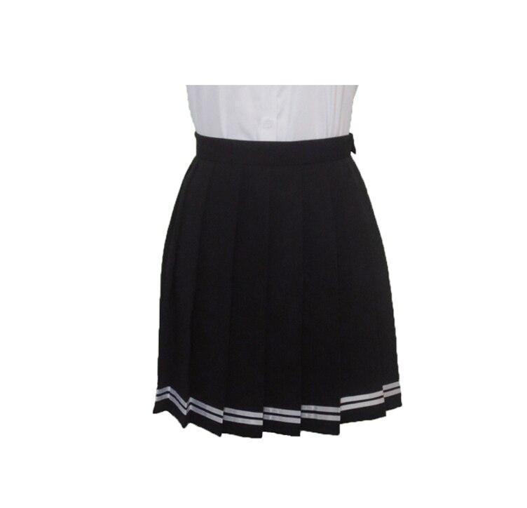 2018 Japanese JK macarons pleated uniform skirt schoolgirl uniform skirt high waist solid color skirt multicolor women skirt